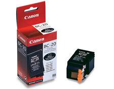Lot of 4 New In Box Sealed Genuine Canon BC-20 Black Inkjet Cartridges BC20
