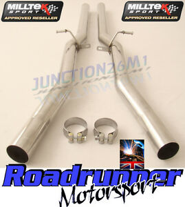 Details about Milltek Audi RS6 C5 V8 02-04 Exhaust Stainless Non Res Centre  Link Pipes Louder