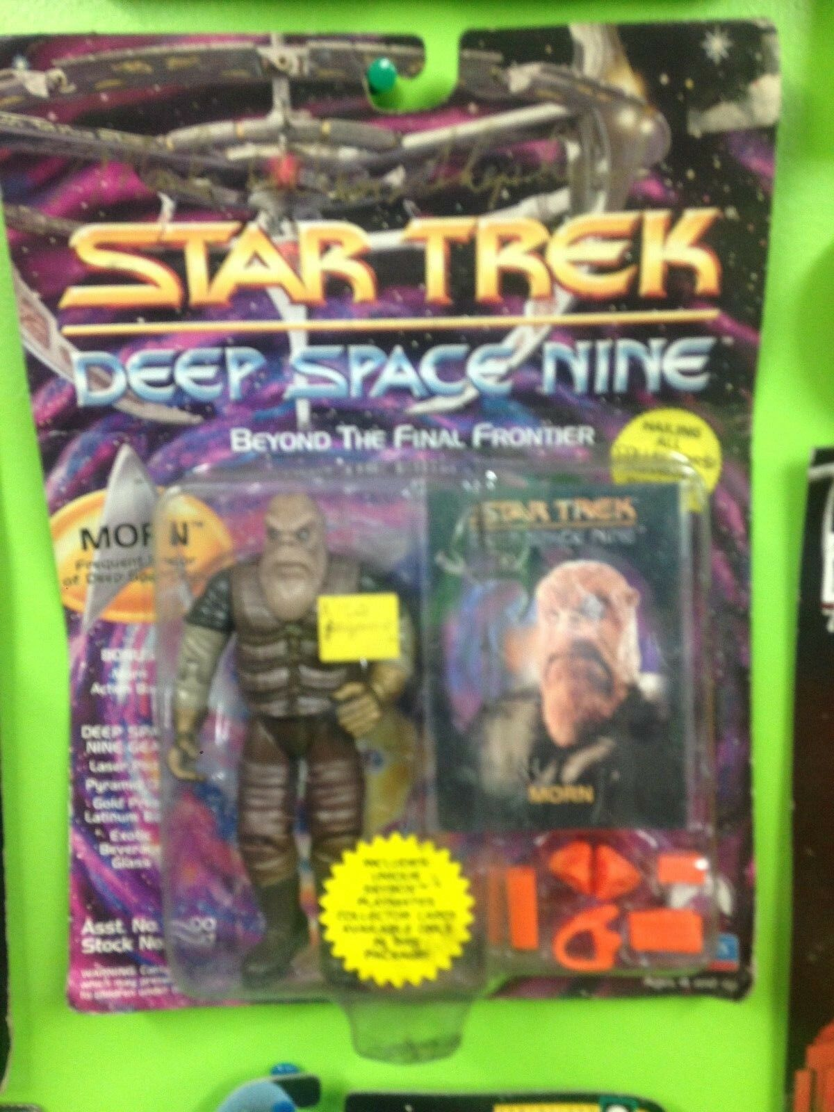 Startrek Deep Space Nine carded Morn figure signed by the actor