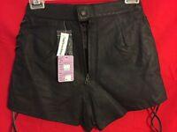 usa Extreme Biker Leather Biker Shorts Sz 3/4