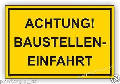 LiebenswüRdig Schild,baustelle,bauschild,warn Achtung Baustelleneinfahrt B24 üPpiges Design Hinweisschild