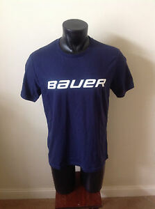 Bauer Hockey Senior/Adult Navy/White Tshirt Size S