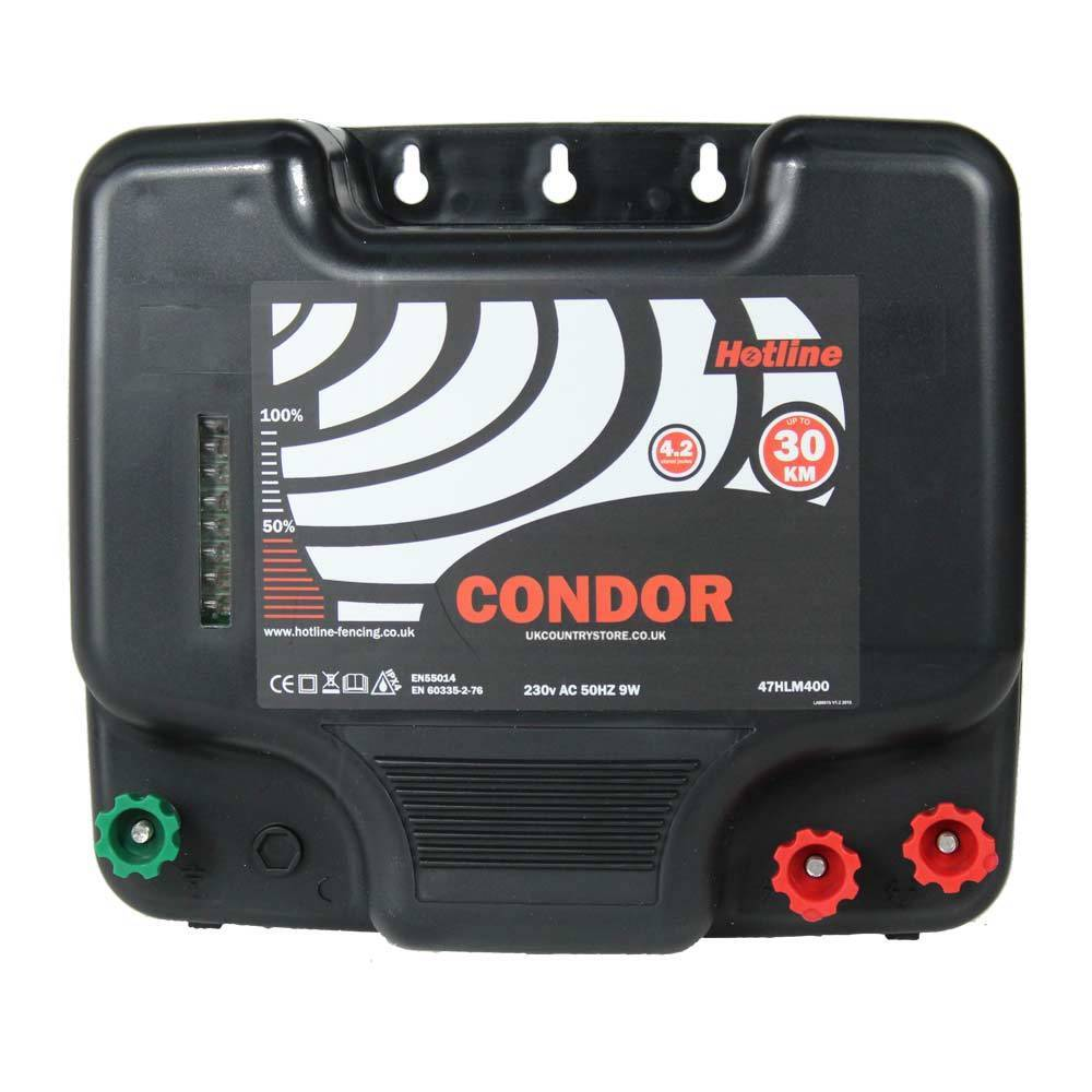 Hotline Condor Mains Electric Fence Energiser - HIGH   LOW Output Settings