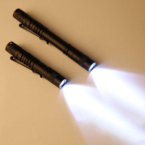 CREE XPE-R3 LED Flashlight Clip Mini Torch Pen Light AAA 3500LM 9cm//13cm Lamp