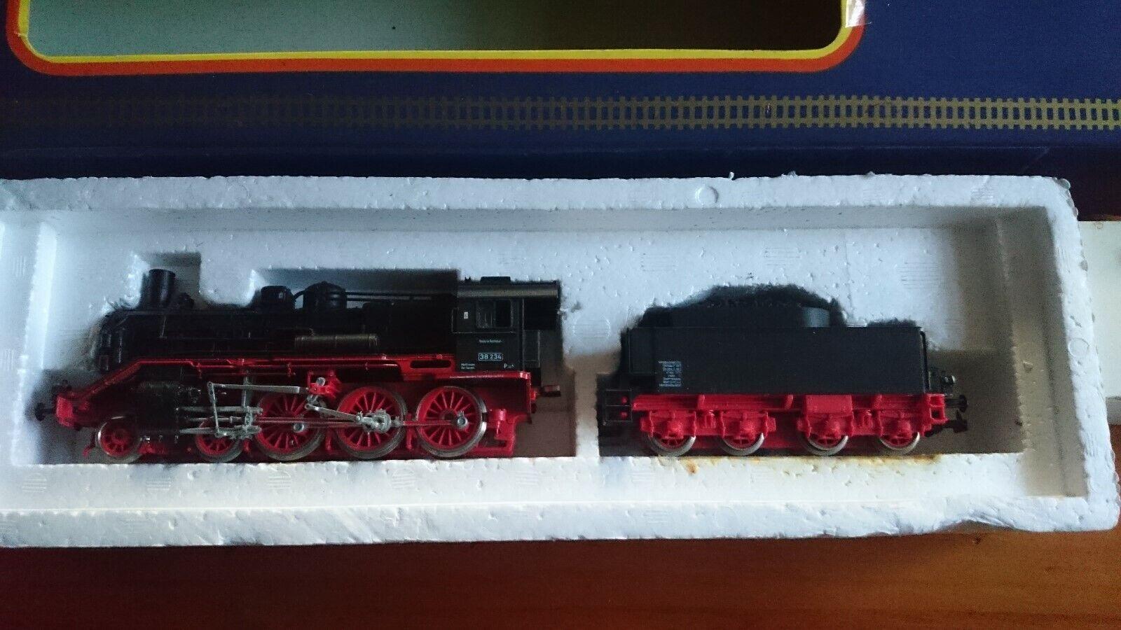 Piko H0 Schlepptender Dampflokomotive 5 6333 010 BR38 mit Zubehör OVP