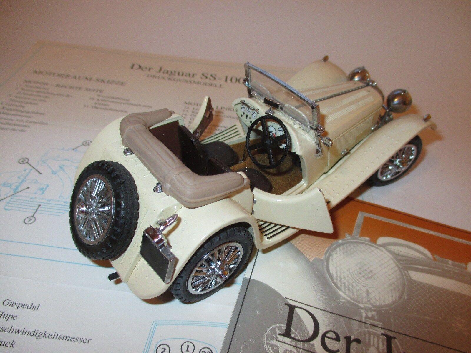 SS S.S. 100 Jaguar (1938) in creme, Franklin Mint in 1 24 Swallow Sidecars  | Starke Hitze- und Abnutzungsbeständigkeit