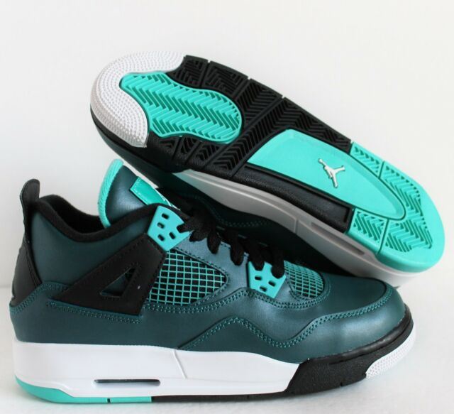 Nike Air Jordan 4 Retro 30th BG Teal GS Size 4y-7y Deadstock 705330 ... 88e410c2d