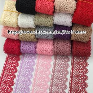 1 Yard, Polyester Dentelle Venise Tissu Ruban Applique Craft Sewing À Faire Soi-même A85-afficher Le Titre D'origine Approvisionnement Suffisant