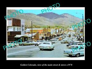 OLD-LARGE-HISTORIC-PHOTO-OF-GOLDEN-COLORADO-THE-MAIN-STREET-amp-STORES-c1970