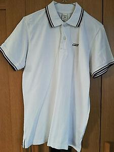 Jack-amp-Jones-Premium-blanc-homme-manches-courtes-Polo-Shirt-homme-taille-M-avec-col