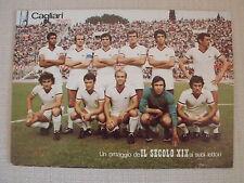 CARTOLINA CALCIO SQUADRA SCHIERATA CAGLIARI 1975/76 AUTOGRAFI RIVA NENE' VIRDIS