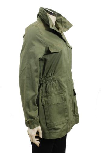 Cotone Parka Da Verde Giubbino Manica Stile Casual Moda Donna Deha Tasche Lunga YwXqZX