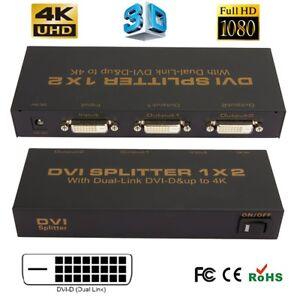 1080P-DVI-D-1-X-2-Port-Splitter-to-LCD-LED-Monitor-Box-Support-Resolution-up-4K
