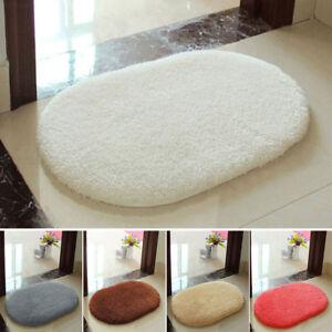 Details zu F0CA Fußmatte Fluffy Teppich Schlafzimmer Badezimmer Boden Tür  Matte Silber-Grau