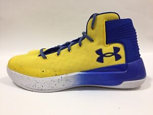 Degenerar Asado rodillo  New Mens Under Armour Curry 3Zero Sz10.5 Stephen Basketball Shoes Royal  Gold   eBay