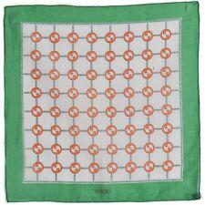 GUCCI Vintage 60s 70s GG Logo Monogram Cotton Square Scarf Hand Rolled VTG