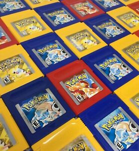 Game Boy Original Pokemon Blue + Red + Yellow Video Games *New Save Batteries*