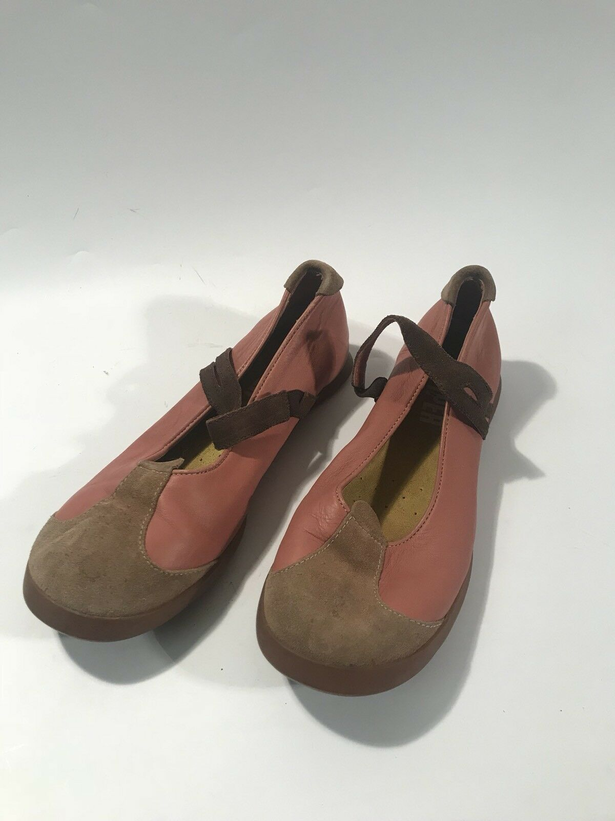 CAMPER Girl Wmn sz 39  Pink pink Leather Ballet Flat shoes Slip On Mary Janes