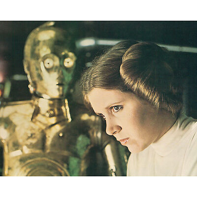 Star Wars Original Lobby Card 8x10 US Carrie Fisher C3PO