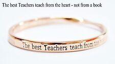 Sterlina Milano Rose Gold Sentimental Message Bangle Bracelet Teacher Gift