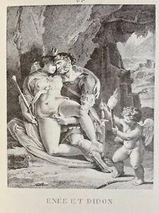 Agostino Carracci Erotico Pene atto vagina Enée Didon antica mitologia Love