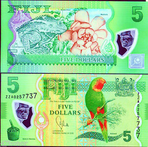Fiji-2012-2013-5-Dollars-Polymer-Note-UNC-ZZA-Replacement