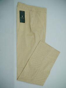 GOLFINO-Da-Stretch-Golfhose-leichte-Pants-beige-kariert-Gr-38-NEU-NP169