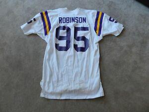 Vintage Minnesota Vikings #95 Gerald Robinson Authentic Game Used ...