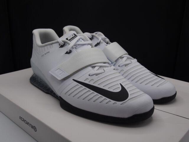 515f8790c302 Nike Romaleos 3 Weightlifting White Black Lifting Training Shoes Mens Sz 14