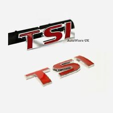 TSI Grill + Rear Badge Decal Emblem VW Golf Scirocco Polo Passat Beetle Tiguan