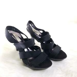 Simply-Vera-Vera-Wang-Black-Strappy-High-Heel-Pump-Size-9-B5
