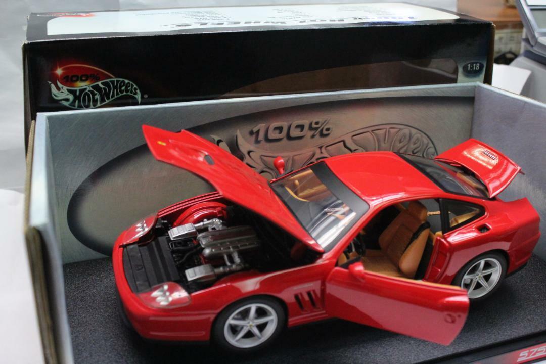 tomamos a los clientes como nuestro dios Usado 100% Hot Wheels Ferrari Ferrari Ferrari 575MM rojo escala 1 18 colección de juguetes Vintage Raro  los nuevos estilos calientes