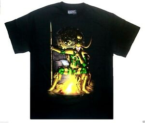 Loki Thor Superhero Villian comic mens T-Shirt