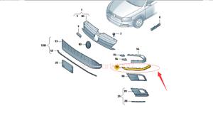 Genuine New Rear Bumper Trim Cover Lower Left For Jetta GLI 15-18