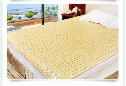 New Bamboo Mattress Mat Flexible Mahjong Bamboo Mat Full Queen King size 竹席 竹凉席