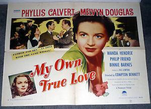 MY-OWN-TRUE-LOVE-original-1948-22X28-WANDA-HENDRIX-VAL-LEWTON-movie-poster