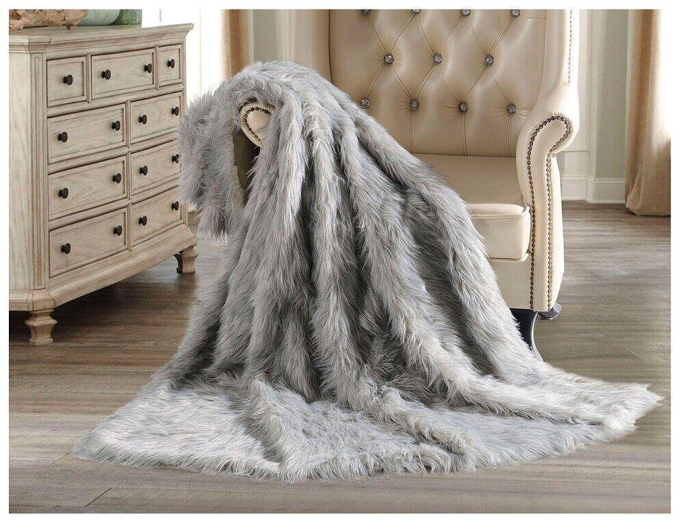 Hotel Premier Luxury Faux Fur Throw, Koala