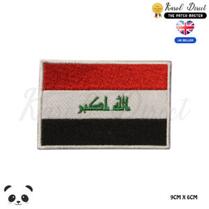 IRAQ-National-Flag-Embroidered-Iron-On-Sew-On-Patch-Badge-For-Clothes-etc