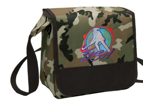 Field Hockey Lunch Bag CAMO Field Hockey Lunchbox Cooler ADJUSTABLE SHOULDER BAG