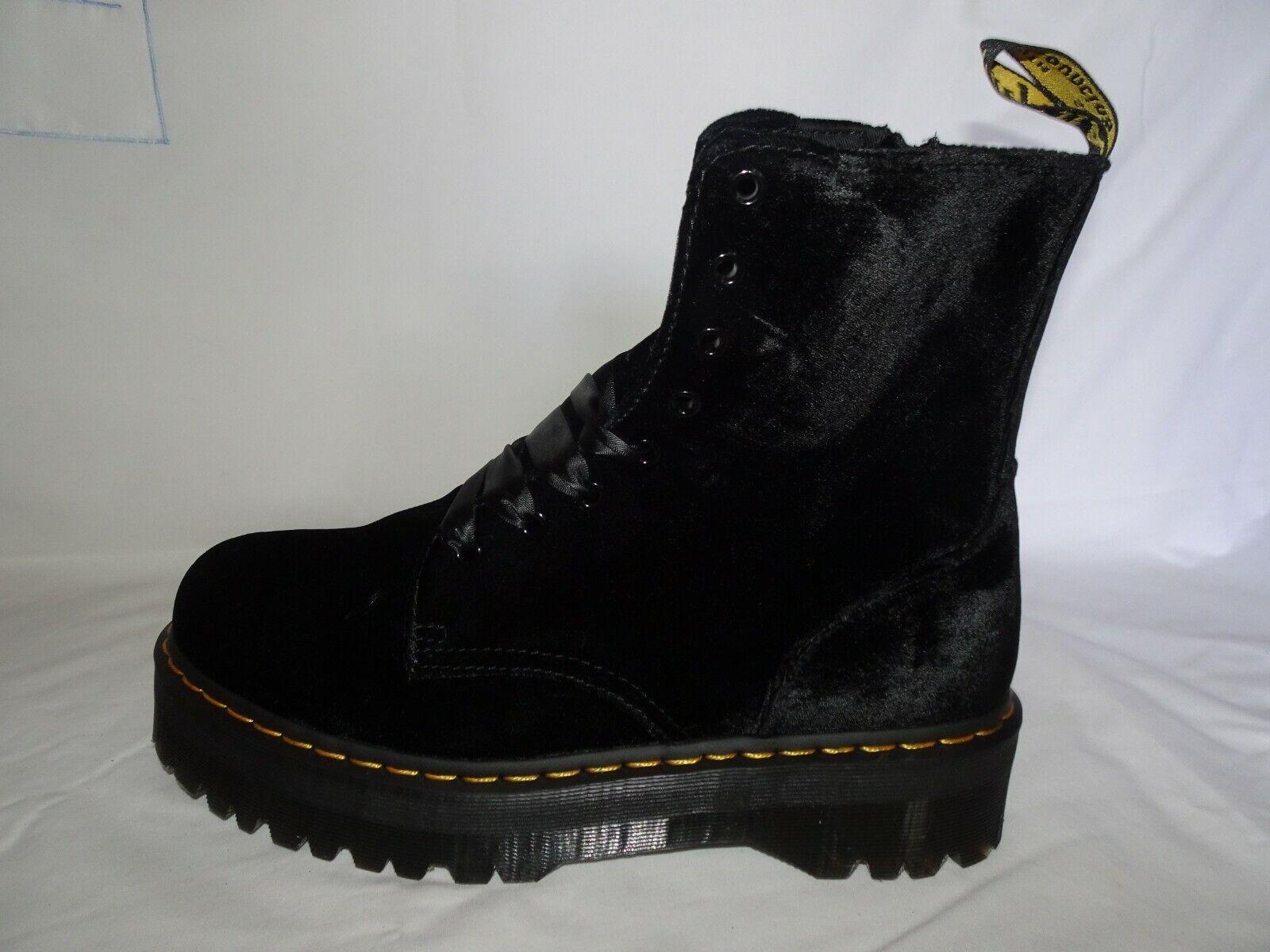 Dr Martens JADON Velvet Black Boots *Size 12 & 13 UK* BNIB *Mens /Womens*