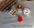 3 X CTS 250K Pots Split Shaft Dishback - 10% Tol.- .047uf Orange Drop Cap - 450G
