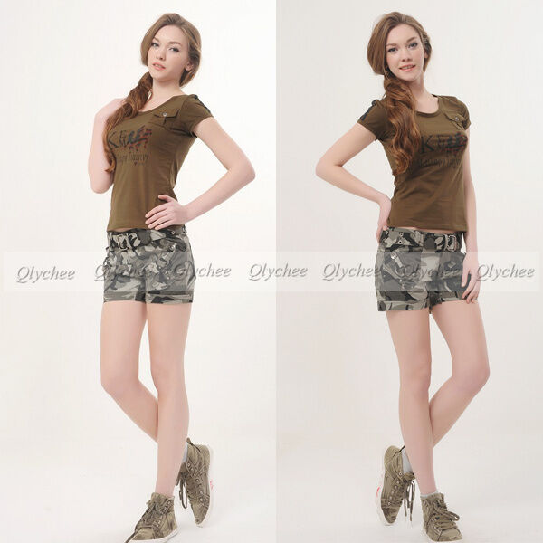 New Fashion Sexy Ladies Camouflage Military Camo Shorts Army Pants For Women