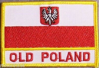 Embroidered International Patch National Flag of Poland NEW flag with Eagle
