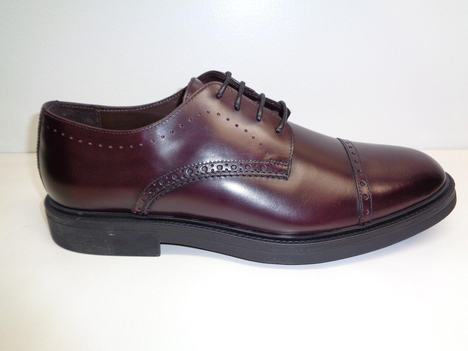 Bruno Magli Size 11 M FELICE Bordeaux Leather Cap Toe Oxfords New Mens shoes