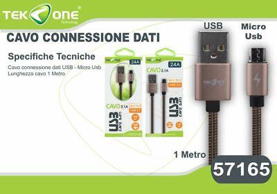 Cavo Dati Usb Tekone 24a Connettore Microusb Micro Usb 1mt Smartphone Hsb Lucentezza Luminosa