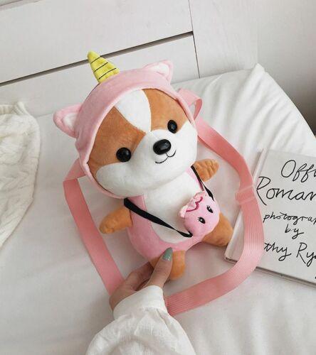 Fashion Cute Fawn Deer Plush Crossbody Shoulder Messenger Bag Purse