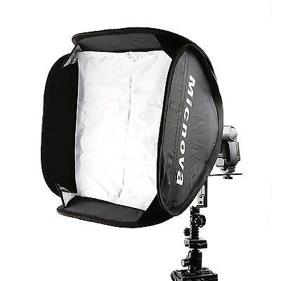"Micnova SB40 16x16"" Softbox Kit w Speedlight L-Type Bracket for Camera Flashes"