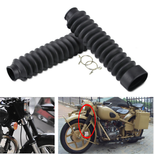 Pair Motorcycle Front Fork Protector Rubber Gaitor Cover Gaiters Crocodile Boots