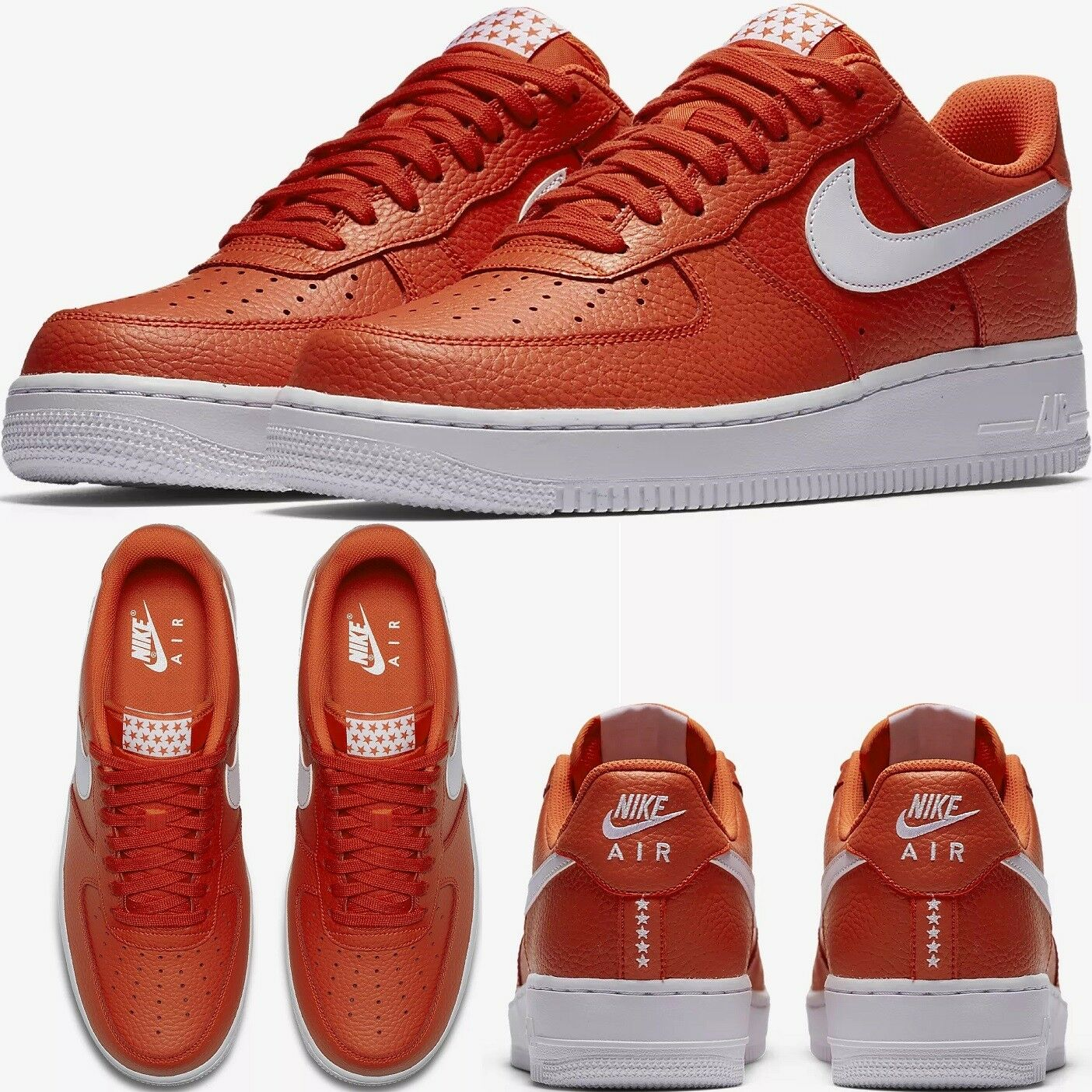 NIKE AIR FORCE 1 ONE SHOES LOW 07 Orange/White MEN'S SHOES ONE LIFESTYLE COMFY AA4083-800 1c0c59