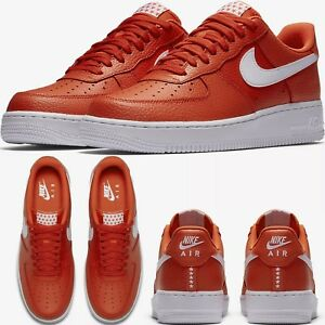 NIKE AIR FORCE 1 ONE LOW 07 Orange/White MEN'S SHOES LIFESTYLE COMFY